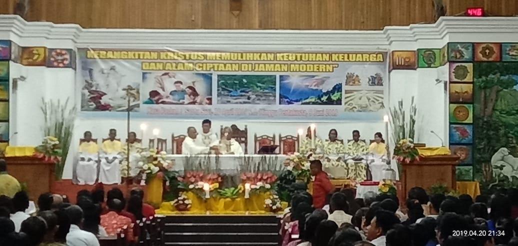 Kerukunan Umat Katolik Sulawesi Utara Kuksu Tampil Mewarnai